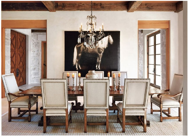 Posted In Architecture, Rooms We Love By Lynnda | Comments Off On A Gorgeous  Dining Room In Texas.